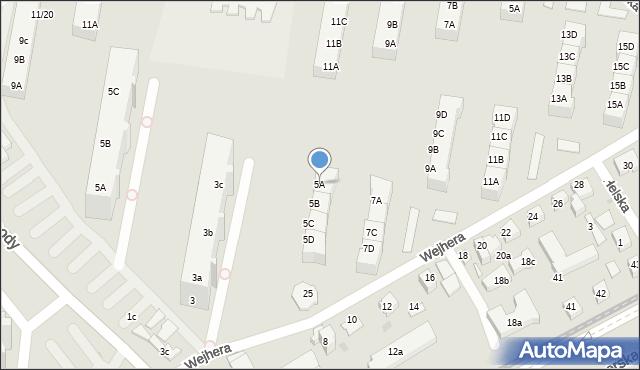Gdańsk, Wejhera Jakuba, 5A, mapa Gdańska