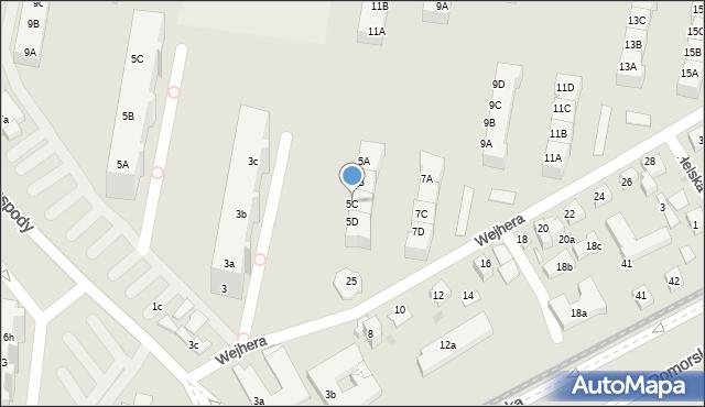 Gdańsk, Wejhera Jakuba, 5C, mapa Gdańska