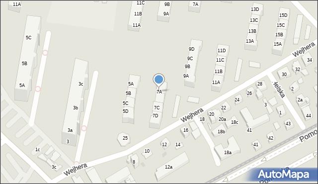 Gdańsk, Wejhera Jakuba, 7A, mapa Gdańska