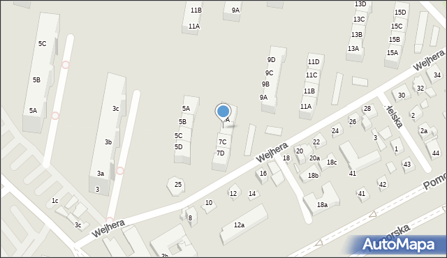 Gdańsk, Wejhera Jakuba, 7B, mapa Gdańska