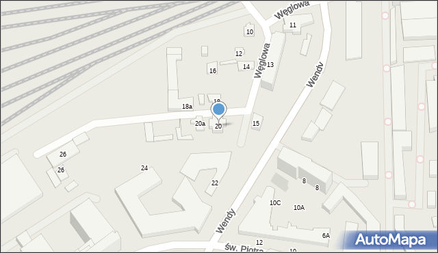 Gdynia, Węglowa, 20, mapa Gdyni