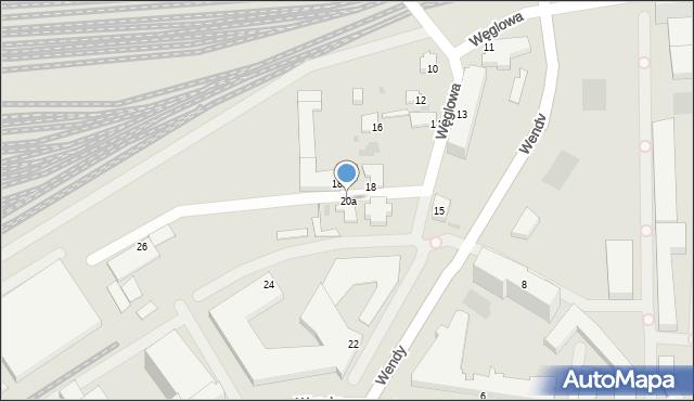Gdynia, Węglowa, 20a, mapa Gdyni