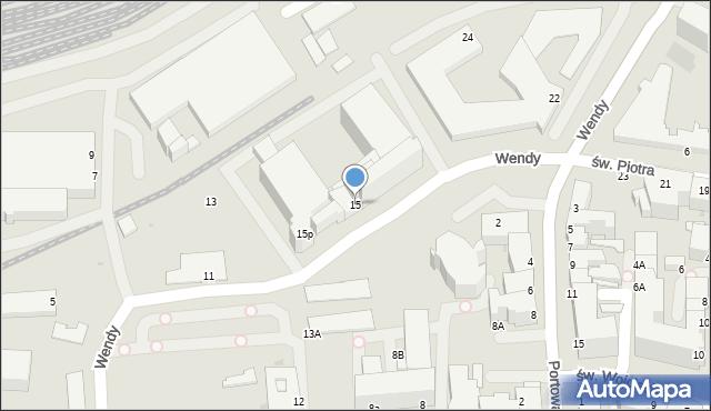 Gdynia, Wendy Tadeusza, 15, mapa Gdyni
