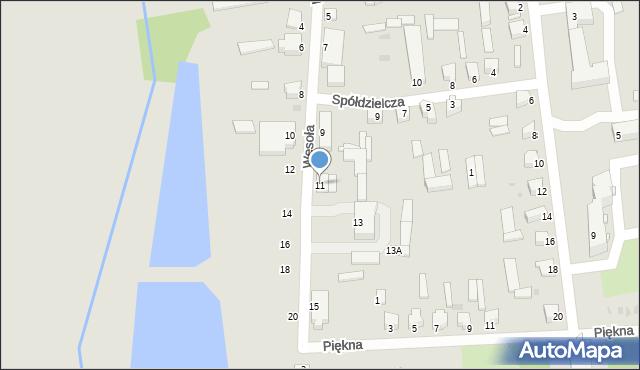 Jedwabne, Wesoła, 11, mapa Jedwabne