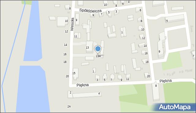 Jedwabne, Wesoła, 13A, mapa Jedwabne