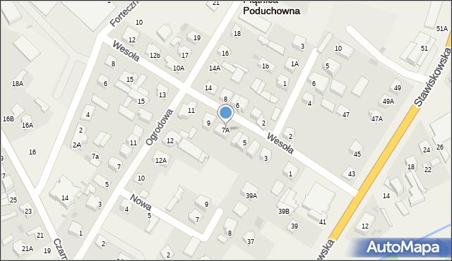 Piątnica Poduchowna, Wesoła, 7A, mapa Piątnica Poduchowna