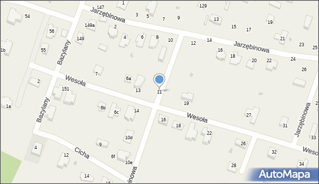 Pokrówka, Wesoła, 11, mapa Pokrówka