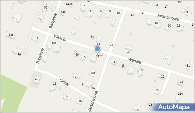 Pokrówka, Wesoła, 14, mapa Pokrówka