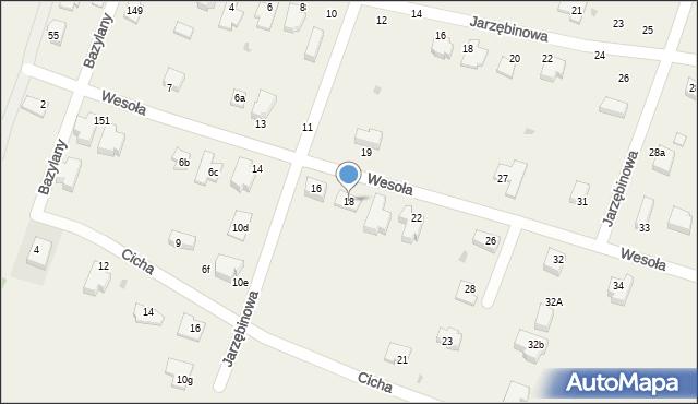 Pokrówka, Wesoła, 18, mapa Pokrówka