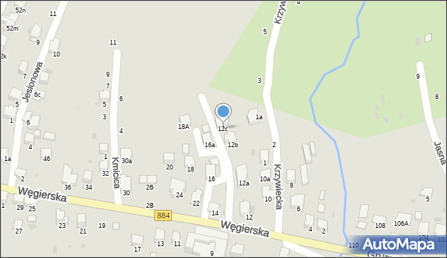 Przemyśl, Węgierska, 12c, mapa Przemyśla