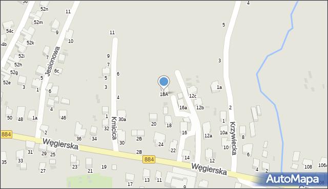 Przemyśl, Węgierska, 18A, mapa Przemyśla