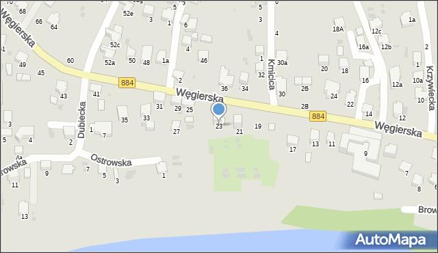 Przemyśl, Węgierska, 23, mapa Przemyśla