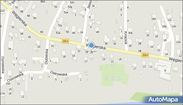 Przemyśl, Węgierska, 25, mapa Przemyśla