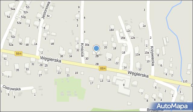 Przemyśl, Węgierska, 26, mapa Przemyśla
