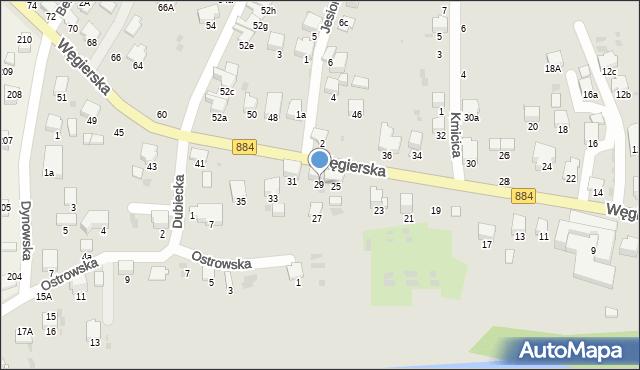 Przemyśl, Węgierska, 29, mapa Przemyśla