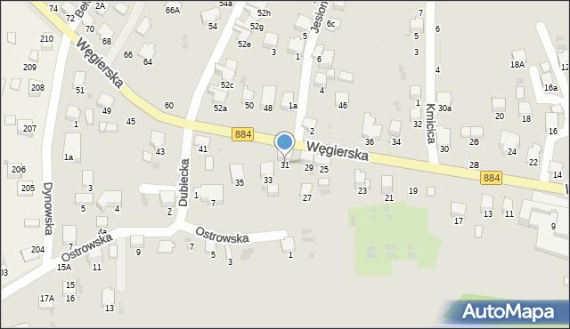 Przemyśl, Węgierska, 31, mapa Przemyśla