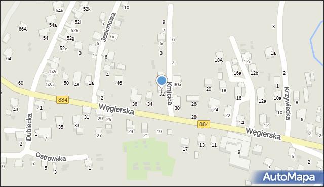 Przemyśl, Węgierska, 32, mapa Przemyśla