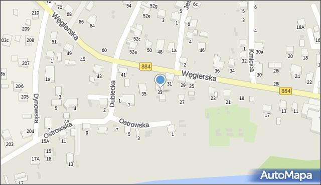 Przemyśl, Węgierska, 33, mapa Przemyśla