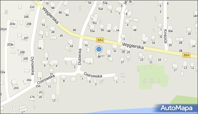 Przemyśl, Węgierska, 35, mapa Przemyśla