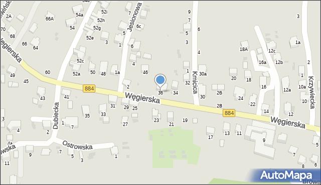 Przemyśl, Węgierska, 36, mapa Przemyśla