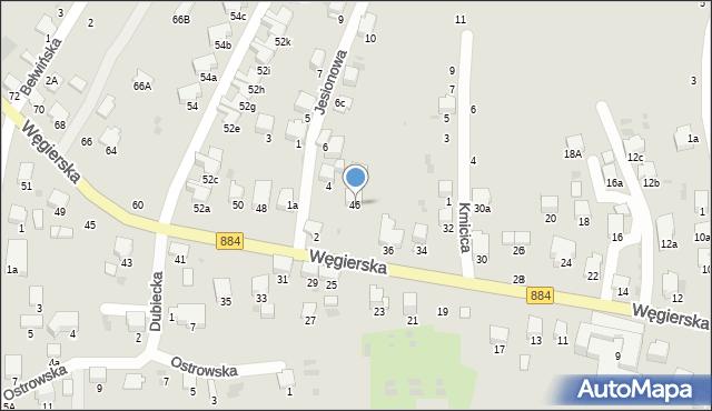 Przemyśl, Węgierska, 46, mapa Przemyśla