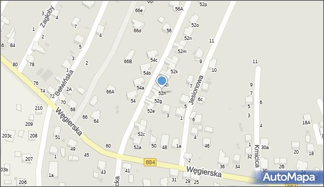 Przemyśl, Węgierska, 52h, mapa Przemyśla