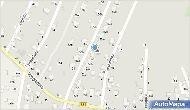 Przemyśl, Węgierska, 52j, mapa Przemyśla