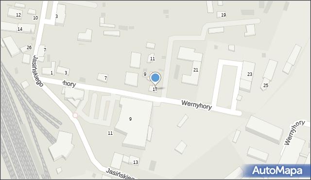Przemyśl, Wernyhory, 17, mapa Przemyśla