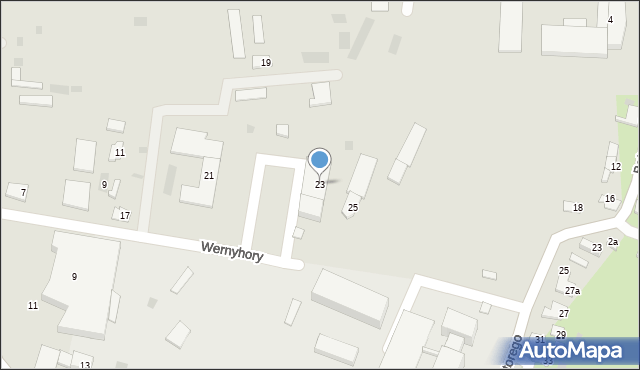Przemyśl, Wernyhory, 23, mapa Przemyśla