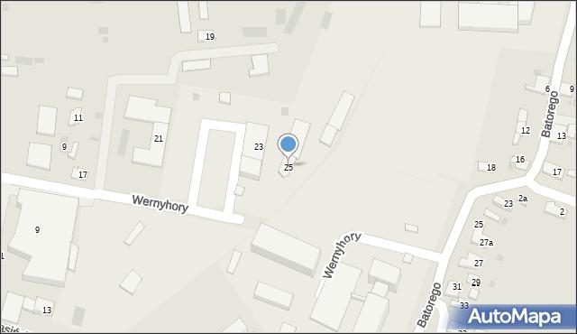 Przemyśl, Wernyhory, 25, mapa Przemyśla