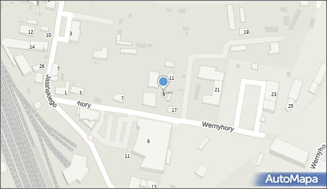 Przemyśl, Wernyhory, 9, mapa Przemyśla