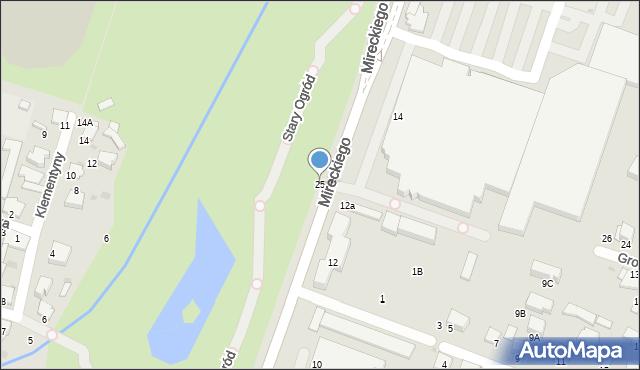 Radom, Wernera Stanisława, 25, mapa Radomia
