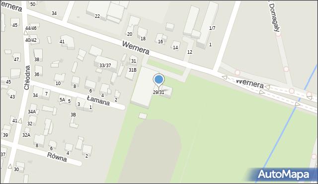 Radom, Wernera Stanisława, 29/31, mapa Radomia