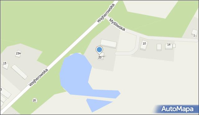 Robakowo, Wejherowska, 20, mapa Robakowo