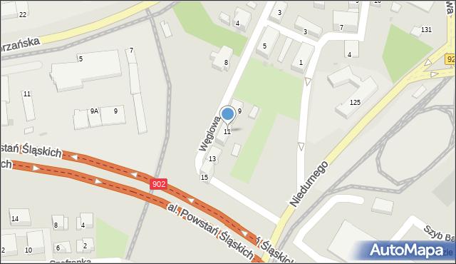 Ruda Śląska, Węglowa, 11, mapa Rudy Śląskiej