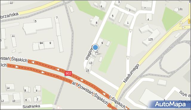 Ruda Śląska, Węglowa, 11A, mapa Rudy Śląskiej