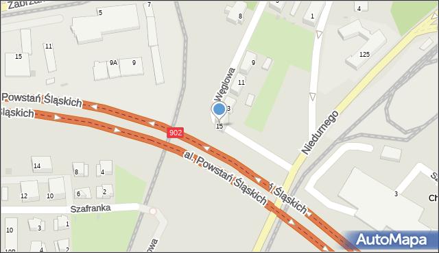 Ruda Śląska, Węglowa, 15, mapa Rudy Śląskiej