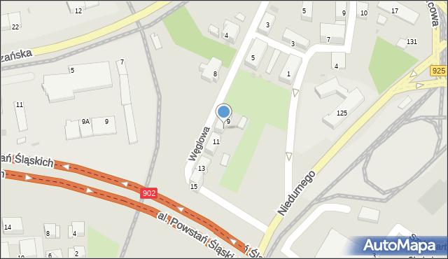 Ruda Śląska, Węglowa, 9A, mapa Rudy Śląskiej