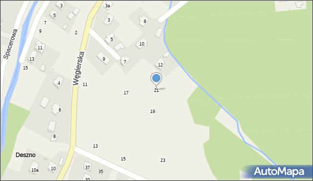 Rymanów-Zdrój, Węgierska, 21, mapa Rymanów-Zdrój
