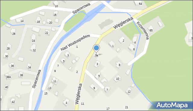 Rymanów-Zdrój, Węgierska, 3a, mapa Rymanów-Zdrój