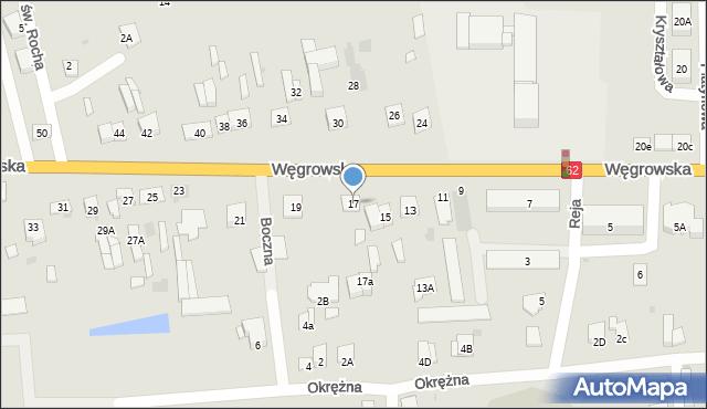 Sokołów Podlaski, Węgrowska, 17, mapa Sokołów Podlaski
