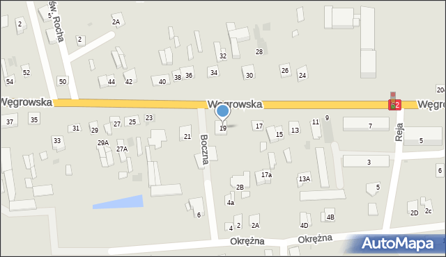 Sokołów Podlaski, Węgrowska, 19, mapa Sokołów Podlaski