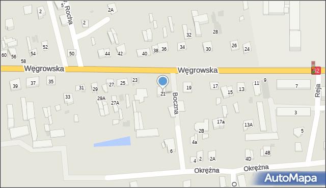Sokołów Podlaski, Węgrowska, 21, mapa Sokołów Podlaski