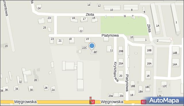 Sokołów Podlaski, Węgrowska, 22B, mapa Sokołów Podlaski