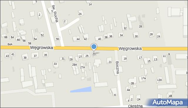 Sokołów Podlaski, Węgrowska, 23, mapa Sokołów Podlaski