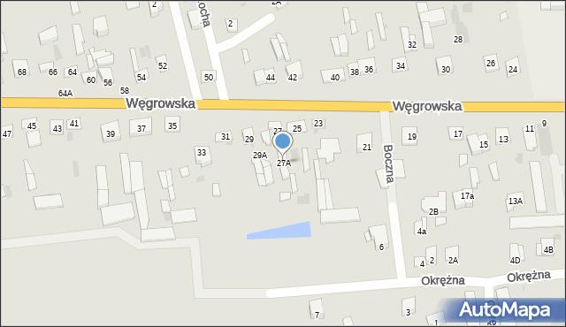 Sokołów Podlaski, Węgrowska, 27A, mapa Sokołów Podlaski