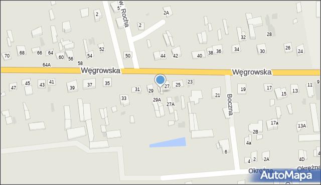 Sokołów Podlaski, Węgrowska, 27B, mapa Sokołów Podlaski