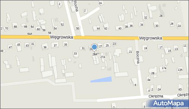 Sokołów Podlaski, Węgrowska, 29A, mapa Sokołów Podlaski