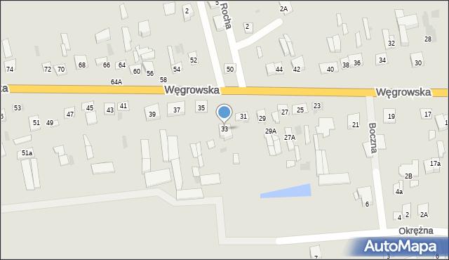 Sokołów Podlaski, Węgrowska, 33, mapa Sokołów Podlaski