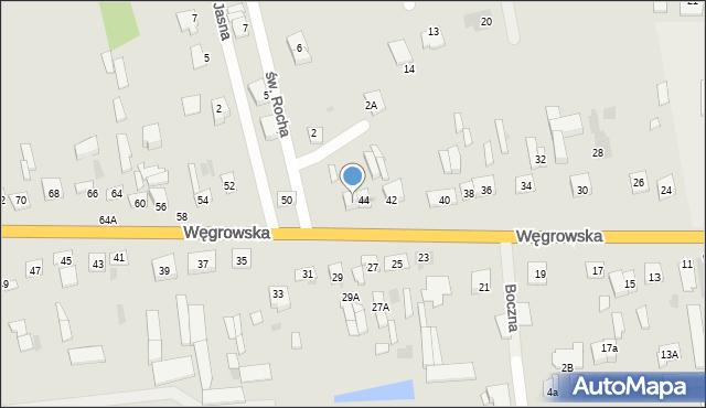 Sokołów Podlaski, Węgrowska, 46, mapa Sokołów Podlaski